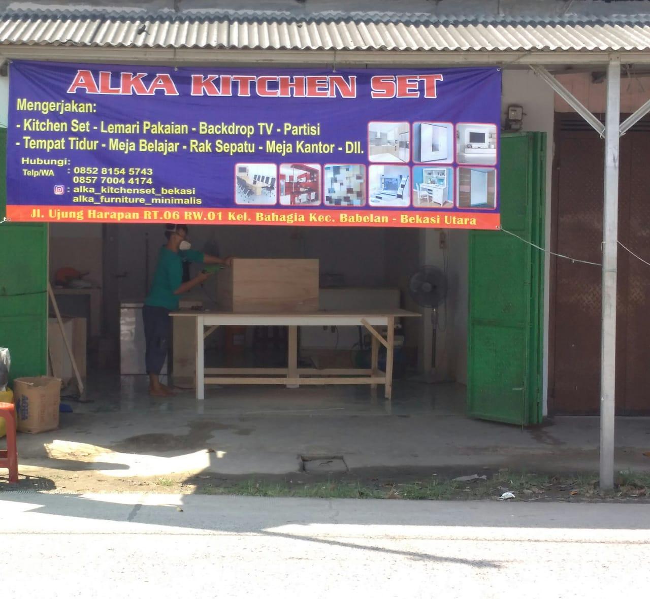 alka kitchen set bekasi - Meja Mesin Jahit Custom