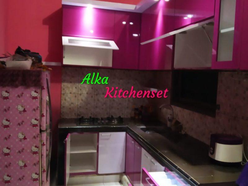 Kitchen Set Ungu Minimalis
